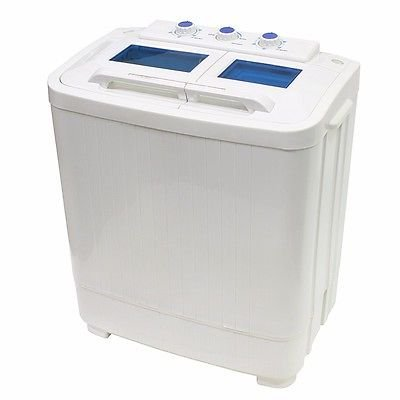Washer 8 - 9lb Portable Mini Small RV Dorms Compact Washing Machines Spin Dryer Laundry by Washers