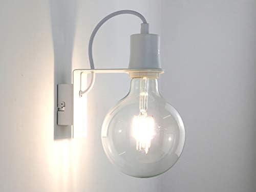 Mini a1 wh applique design moderno bianco minimale industriale
