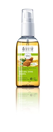 lavera Natural Shine Haaröl Bio Mandel Öl - Haarpflege trockenes geschädigtes Haar 1er Pack (1 x 50 ml)