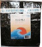 Natural Zing Raw Organic Nori Sheets, 50 sheets/pk