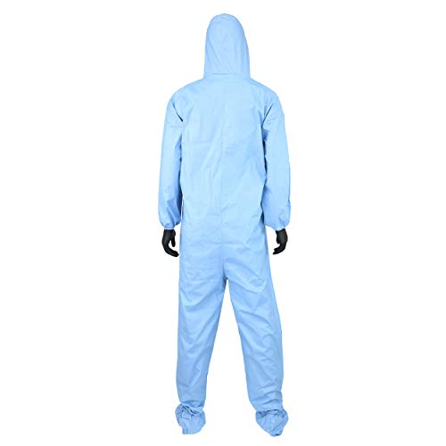 West Chester 3109/XL Posi FR Coverall Hood, Boot, Elastic Wrist & Ankle, XL, Blue (Box of 25) by West Chester (Image #1)