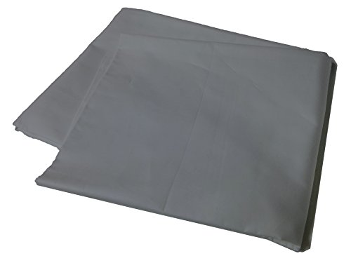 Body Pillow Cover Pillowcase, 400 Thread Count, 100% Cotton, 20 x 54 Non-Zippered Enclosure, 6 Colors Available (Gray)