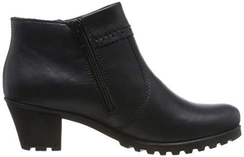 Rieker Damen Stiefeletten M8081, Frauen Ankle Boots, Stiefel halbstiefel Bootie knöchelhoch reißverschluss Damen Frauen,Navy / 14,37 EU / 4 UK 6