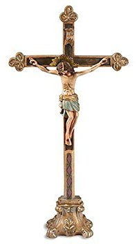 Milagros Jesus Christ Crucifix - The Halo of Christ Tabletop Standing Cross, 13 Inch (Statue Of Jesus Christ On The Cross)