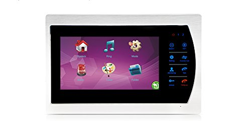 Jeatone 7'' HD Touch button Video Hands-free 2 Monitor Intercom with 2 camera Night Vision Residential Security Kit Home by Jeatone (Image #1)