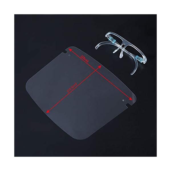Protector Facial de Seguridad Reutilizable con Gafas de Visera, Capa Transparente antivaho para Proteger los Ojos de Las Salpicaduras para Mujeres, Hombres, niños y niños (10 Unidades) 10