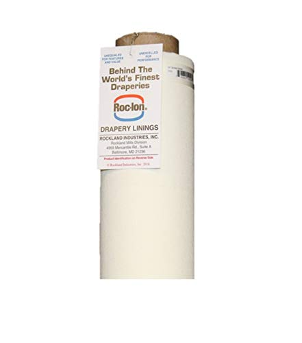 Roc-lon 54-Inch Renaissance 100-Percent Cotton Lining Fabric Rolled on Tube, 25-Yard, Ivory