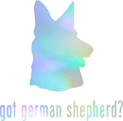 - ANGDEST Animal Got German Shepherd Dog 2 (Hologram) (Set of 2) Premium Waterproof Vinyl Decal Stickers for Laptop Phone Accessory Helmet Car Window Bumper Mug Tuber Cup Door Wall Decoration