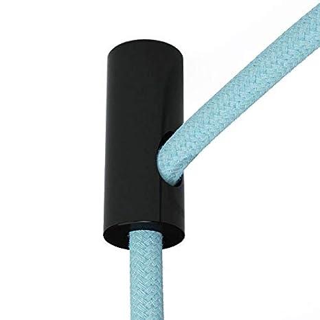 Sujeta cables color negro para techo con prisionero ...