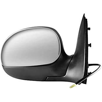 Passengers Power Side View Mirror w//Adapter /& Chrome Cover 97-03 Ford F-150 97-99 F250 Light Duty Pickup Truck Replaces F75Z17682JAA F85Z17682FAA