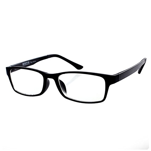 Reading Glasses Mens Womens Everyday use Readers Eyeglasses Office Eyewear Black Frame Reading Glasses +4.25