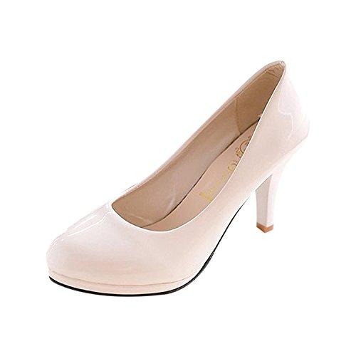 De 5 Mariage Pour Femmes Us3 Des Talons Bas Ou Toogoo Abricot Dames Sexy Plateforme Noir Rond Bureau Chaussure A Bout Classique waa1xH7fqz
