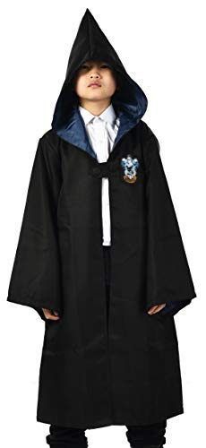 Miliano Embroidered Hooded Cloak Robe Cosplay Costume Kids/Audlt Size
