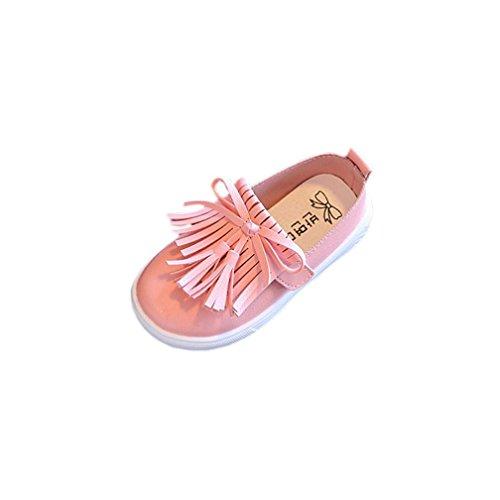 Igemy 1 Paar Kleinkind Kinder Prinzessin Fashion Fringe Single Schuhe Sommer Mädchen Sandalen Rosa