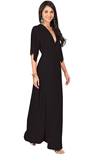long black plus size dress - 5