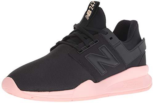 New Balance Women's 247v2 Sneaker, Black/Himalayan Pink, 8 B ()