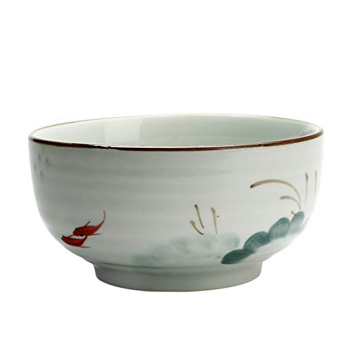 Jingdezhen Ceramic 7 Inch Bowl Home Hand-painted Soup Bowl Japanese Large Capacity (Color : 8 INCH DIAMETER 20.5HIGH 9CM)