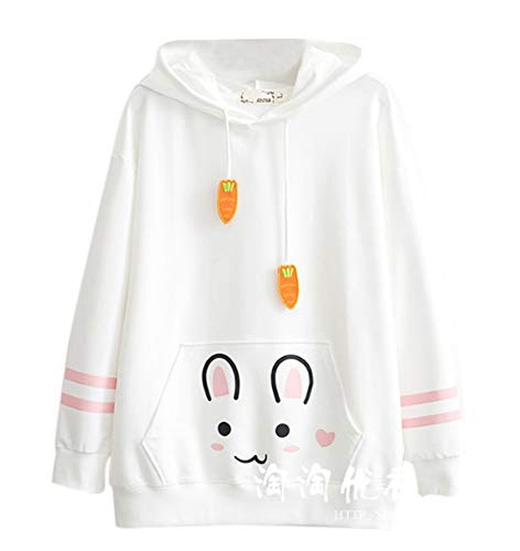 43e77c130ef7 Cosplay Anime Bunny Emo Girls Sweater Hoodie Ears Costume Panda Cat Emo  Bear Jacket T Shirt Top Shirt