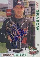 John Grabow Altoona Curve - Pirates Affiliate 2002 Grandstand Autographed Card - Minor League Card. This item comes with a certificate of authenticity from Autograph-Sports. Autographed