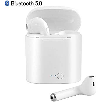 Bluetooth 5.0 Earbuds, True Wireless Earphones with 3D Stereo Sound, Wireless Headphones in-Ear Mini Noise Cancelling Stereo Bluetooth Headset Built-in Mic ...