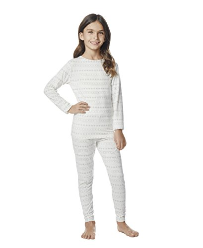 (Kids Heat Baselayer Set, Vanilla Snowflake, Large)