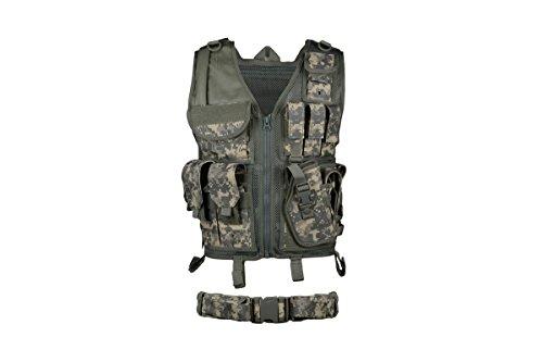 AMA Airsoft Cross-Draw Vest w/ Tac Belt - ACU