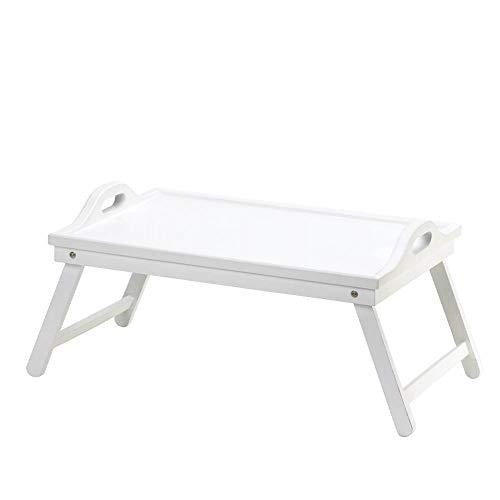 (White Chic Folding Shabby Lap Desk Table laptop Tray Books Breakfast Bed Serving)