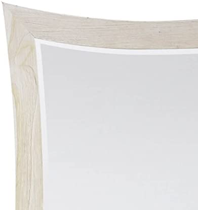 EcoDecors Curvature Teak Wall Mirror, 36 x 35, Driftwood