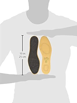 Pedag 172 Leather Naturally Tanned Sheepskin Insole with Activated Carbon, Tan, US M10/11 EU 43/44