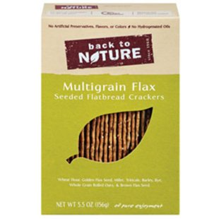 (BACK TO NATURE MULTIGRAIN FLAX CRACKERS SEEDED FLATBREAD ALL NATURAL 5.5 OZ)