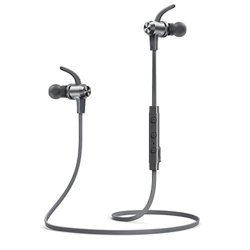 Bluetooth Headphones TaoTronics aptX-HD Audio Wireless Earphones Bluetooth 5.0 Sports Headphones 15 Hours Playtime 3 EQ Setting CVC 8.0 Noise Cancellation Mic IPX7 Waterproof Magnetic Earbuds