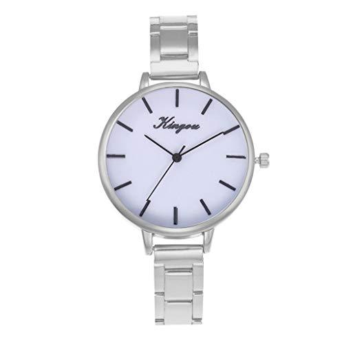 NXDA Wrist watch alloy steel belt casual ladies watch Geneva simple dial quartz movement simulation display watch (B)