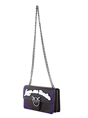 Borsa A Tracolla Pinko Ladies Loveflame1ly1 Nera / Viola