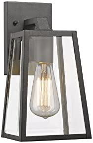 Chloe CH822034BK11-OD1 Transitional 1 Light Black Outdoor Wall Sconce 11 Height
