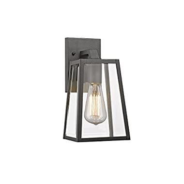 Chloe Lighting CH822034BK11-OD1 Transitional 1 Light Black Outdoor Wall Sconce 11  Height