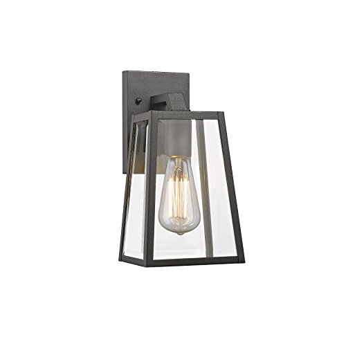 Chloe Lighting CH822034BK11-OD1 Transitional 1 Light Black Outdoor Wall Sconce 11
