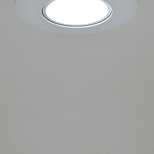 LEDwholesalers 6'' (5''-Compatible) Recessed Dimmable 15W LED Adjustable Head Downlight with White Trim, ETL & Energy Star (4-Pack), White 5000K, 2216WHx4