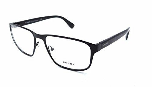 Prada PR56SV Eyeglass Frames 7AX1O1-55 - - Black Prada Eyeglasses Frame