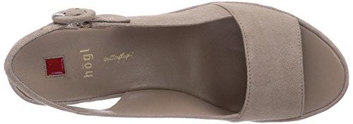 Högl 9-103222 - Sandalias de vestir de terciopelo para mujer beige - Beige (6900)