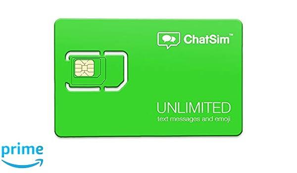 Amazon.com: Tarjeta SIM internacional para chatear sin ...