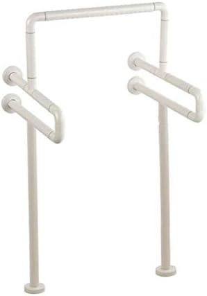 補強脚付き便器グラブバー、トイレ用ステンレス鋼滑り止め手すり高齢者用アシストハンドル