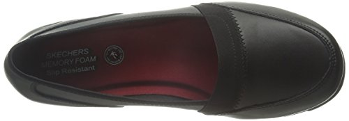 Skechers Work Women's Slip Resistant Slip On Flat Black how much cheap online clearance pictures official M3yc2DDS9