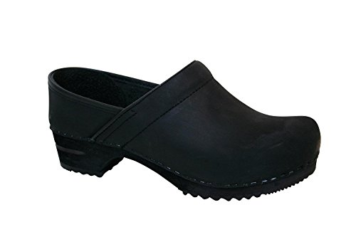 - Sanita Wood Jamie Closed for men from leather - color Black size US 12