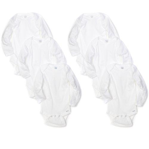 Months White Long Sleeve Onesies - 9