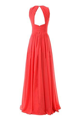 Dresstore Women's Long Bridesmaid Dresses Pleated Chiffon Evening Party Dress Green US 24Plus
