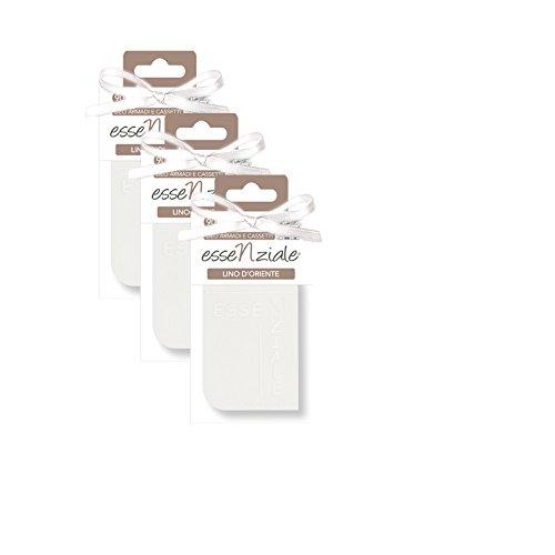Tavoletta morbida profumata essenziale LINO D'ORIENTE confezione tre pezzi marval scent srl