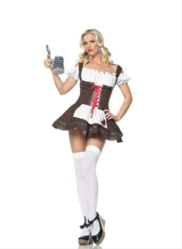 Leg Avenue Beer Girl Costume (German Beer Garden Girl Costume - Medium/Large - Dress Size)