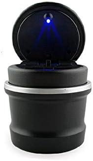 EUEMCH 車の灰皿LEDポータブル車トラックオフィスタバコ灰皿カップ発光無煙自動車インテリアアクセサリー
