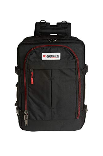 MC-CASES Backpack for DJI Mavic 2 Pro or Zoom/Enterprise and DJI Smart Controller Lots of Space - Many Pockets - Made in Germany