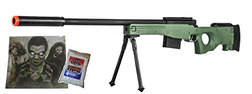 Gun Sniper Set - 300 FPS - Airsoft Sniper Rifle Gun - Tactical Setup - 37 3/4 Inch Length -Green- …